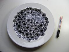 PEN & GRAVY - PorcelaninPEN on plates… This would be so cool to do, if I am brave enough. More here... http://penandgravy.tumblr.com/page/2