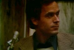 Serial killer Ted Bundy. He seems to be in a good mood to be on trial for murder.