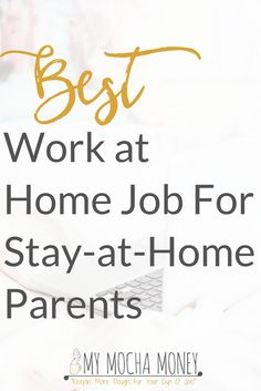 The best work at home job for stay at home moms and dads is Secret Shopping. Learn what this part-time work is all about! I personally earned good money from being a secret shopper.