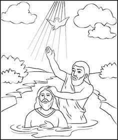 Beautiful Baptism Of Jesus Coloring Page 69 John the Baptist preached
