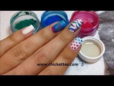 ▶ Nail Art Techniques using CND Additives / Pigment Powders - YouTube
