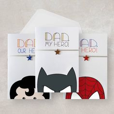 I've been organised and uploaded some cards for the in your life! Get ahead of the game and save money by adding one to my greeting card bundle deal Birthday Thanks, It's Your Birthday, Card Birthday, Diy Father's Day Cards, Your Cards, Spiderman Cards, Batman Spiderman, Superman, Ritter Sport
