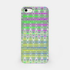Iphone Case Colorful Zigzag Pattern Design #liveheroes #iphone #electronics #gifts