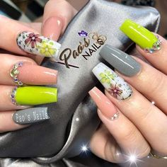 Diva Nails, My Nails, Gel Powder Nails, Fall Gel Nails, Airbrush Nails, Nail Mania, Sassy Nails, Nails 2017, Ballerina Nails