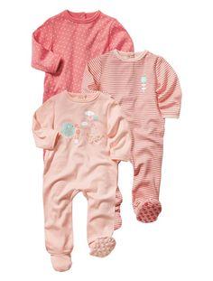 Lot de 3 pyjamas coton assortis bébé fille ASSORTIS - vertbaudet enfant
