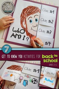 7 fun and fresh activities to help students get to know each other. LOVE the maze and making words with names activities Back To School Night, 1st Day Of School, Beginning Of The School Year, Get To Know You Activities, First Day Of School Activities, School Opening, Future Classroom, Classroom Teacher, Getting To Know You