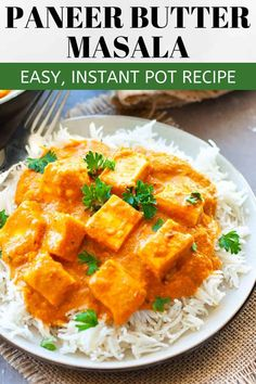 Paneer butter masala is soft cubes of cottage cheese in a finger-licking', nutty-buttery sauce! Cooks easily in the instant pot and is a dream to eat! Indian Paneer Recipes, Indian Food Recipes, Ethnic Recipes, Indian Snacks, Vegetarian Recipes Easy, Veg Recipes, Curry Recipes, Easy Recipes, Dinner Recipes