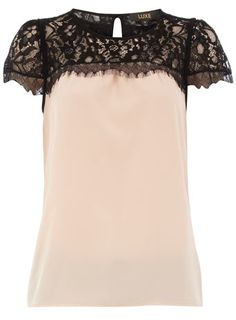 Blush and Black Lace top