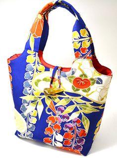 Handmade Vintage Japanese Silk Kimono Bag  by TheEasternTouch