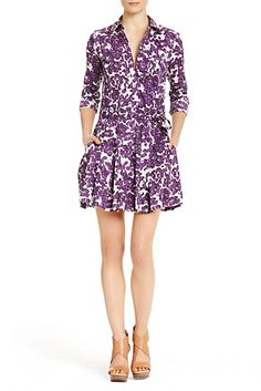 In a fresh print for Spring, the Montana is a crisp cotton shirt dress with pleated skirt. http://on.dvf.com/PMAMONTANAP