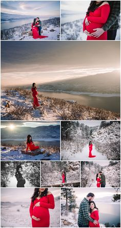 Why every Mama-to-be deserves a beautiful maternity session | Solstice Photo Art | Northern Colorado Photographer | Winter maternity pictures | baby bump | red maternity gown | couples maternity pictures | Horsetooth Reservoir | Lory State Park | Fort Collins Colorado