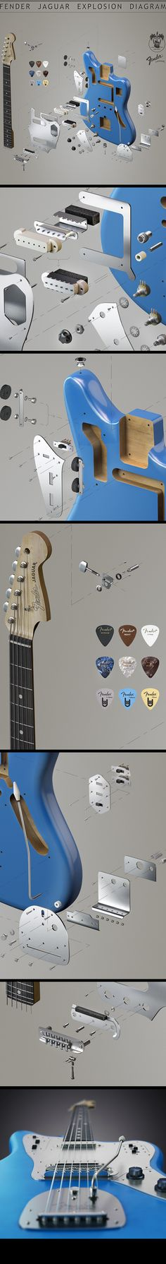 Fender Jaguar by Vladimir Andreev, via Behance