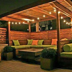 Amazing Modern Pergola Patio Ideas for Minimalist House. Many good homes of classical, modern, and minimalist designs add a modern pergola patio or canopy to beautify the home. Backyard Gazebo, Rooftop Patio, Backyard Seating, Outdoor Seating, Outdoor Rooms, Backyard Landscaping, Outdoor Living, Outdoor Decor, Backyard Ideas