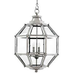 eichholtz owen lantern traditional pendant lighting. Vintage Style Polished Nickel And Glass Faceted Lantern Light From Eichholtz. Each Has A Stylish Clear Surround Set Within Eichholtz Owen Traditional Pendant Lighting