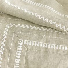 Lovely Hand Embroidered linenThrow