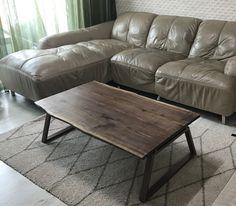 walnut & copper table