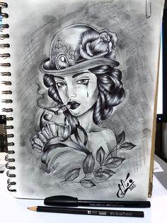 Bts, Female, Portrait, Tattoos, Tatuajes, Headshot Photography, Tattoo, Portrait Paintings, Drawings