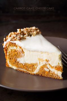 Carrot Cake Cheesecake | Oh yum!! These sound delicious and look AMAZING!!