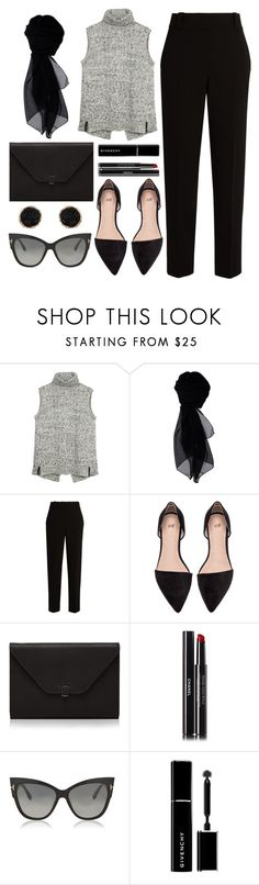 """""""Grey Knit Top"""" by wolfiexo on Polyvore featuring Fat Face, KOCCA, The Row, Valextra, Chanel, Tom Ford, Givenchy, Humble Chic, WorkWear and chic"""