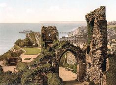 Shop Hastings Castle, Hastings, Sussex, England Poster created by OldeWorldGifts. Personalize it with photos & text or purchase as is! Oh The Places You'll Go, Places To Travel, Places To Visit, Travel Destinations, Hastings Castle, William The Conqueror, Voyage Europe, East Sussex, Kirchen