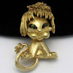 Adorable ROBERT MANDLE Vintage Figural Lion Brooch Pin  UP For Auction or Buy It Now Item  http://www.ebay.com/itm/Adorable-ROBERT-MANDLE-Vintage-Figural-Lion-Brooch-Pin-/181166310591?pt=Vintage_Costume_Jewelry=item2a2e5a84bf