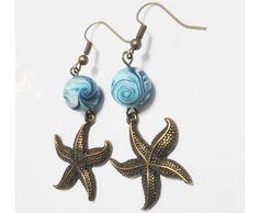 Ehi, ho trovato questa fantastica inserzione di Etsy su https://www.etsy.com/it/listing/500983847/orecchini-perla-vortice-azzurro-in-pasta