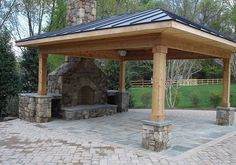 Outdoor Stone Fireplaces for Patios | 30 Perfect Outdoor Fireplace Pictures | CreativeFan