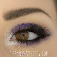 'Dark Purple Smoky' look by Tiffany using Makeup Geek's Duchess eyeshadow.