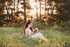 Reading in a meadow Bella Rose, Senior Photos, Folklore, Whimsical, Creativity, Clouds, Photoshoot, In This Moment, Mood