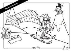 Jokie geniet van de sneeuw en is lekker aan het skiën. In de Efteling is Jokie ook altijd druk bezig. Maak jij wat moois van deze Jokie kleurplaat? ⛷️  Jokie enjoys the snow and enjoys skiing. Jokie is always busy in Efteling. Can you make something beautiful of this Jokie coloring page? ⛄ #DIY #coloringpage #kleuren #colouring #kleurplaat Buy Tickets, Little Boys, Coloring Pages, Fairy Tales, World, Creative, Prints, Fun, Painting