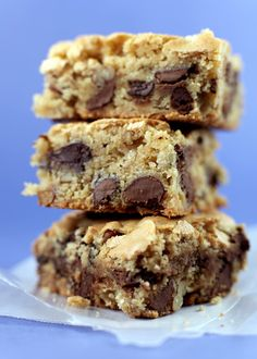 Recipe For Blue Ribbon Winner Chocolate Chip Cookie Bars