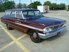 '64 Ford Galaxie Country Squire. Factory Z-Code with 300 HP 390 and column-shifted 3-speed with overdrive.