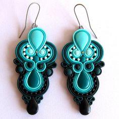 handmade big huge large drop earrings swirl baroque by omifimo