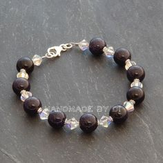 swarovski and sparkly blue goldstone bracelet