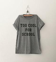 Funny School Shirt Tumblr Shirts Quote T Shirt Funny por CozyGal
