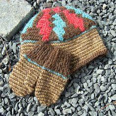 Knitting pattern: Child's cap and mittens  http://icelandicknitter.com/en/books/icelandic-knitting-using-rose-patterns/