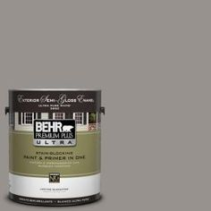 BEHR Premium Plus Ultra, 1-Gal. #UL260-5 Elephant Skin Semi-Gloss Enamel Exterior Paint, 585401 at The Home Depot - Mobile