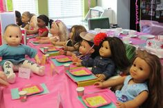 American Girl birthday party!   the paquettes