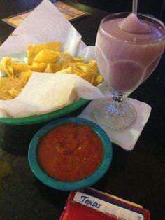 Purple Margaritas at Baby Acapulco.