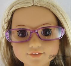 """Pink Rimmed Eye Glasses made for 18/"""" American Girl Doll Clothes"""