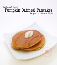 Try this tasty twist on the South Beach Diet Oatmeal Pancake recipe. These pumpkin oatmeal pancakes are sure to please, and they are sugar and gluten free.