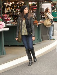 Camilla Belle shops at the Grove in Hollywood, CA.  wonder where tim is
