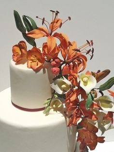 Enchantment - Handmade Gumpaste Lilies and Freesias.                                                         By Faux-Ever Cakes, Las Vegas, NV