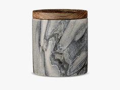 Jar w/Lid, Grey, Marble fra Bloomingville