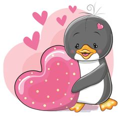 Find Two Cute Cartoon Bears on a background of heart Stock Images in HD and millions of other royalty-free stock photos, illustrations, and vectors in the Shutterstock collection. Tatty Teddy, Penguin Love, Cute Penguins, Penguin Cartoon, Cute Cartoon Pictures, Cute Pictures, Animal Drawings, Cute Drawings, Scrapbooking Image