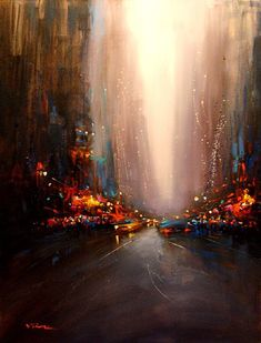 Van Tame  beautiful cityscape with colorful lights