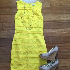Calvin Klein summer yellow dress. Calvin Klein bright yellow dress - great condition! Calvin Klein Dresses Midi