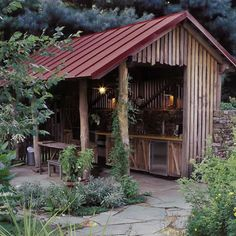 Garage and Shed Outdoor cooking area Design Ideas, Pictures, Remodel and Decor
