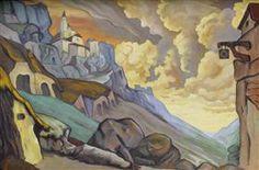 """Studie van scène ontwerp voor """"Fuente Ovehuna"""" - Nicholas Roerich"""