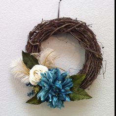 "12"" handmade grapevine wreath #4"